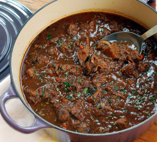 pot of beef tips