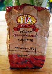 the bag of paprika