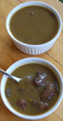 chestnut lima soup