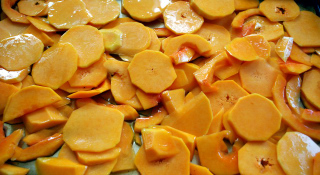 roasting butternut slices