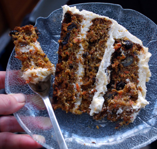 yummy carrotcake slice