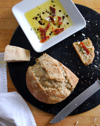 bread and olive oil dip